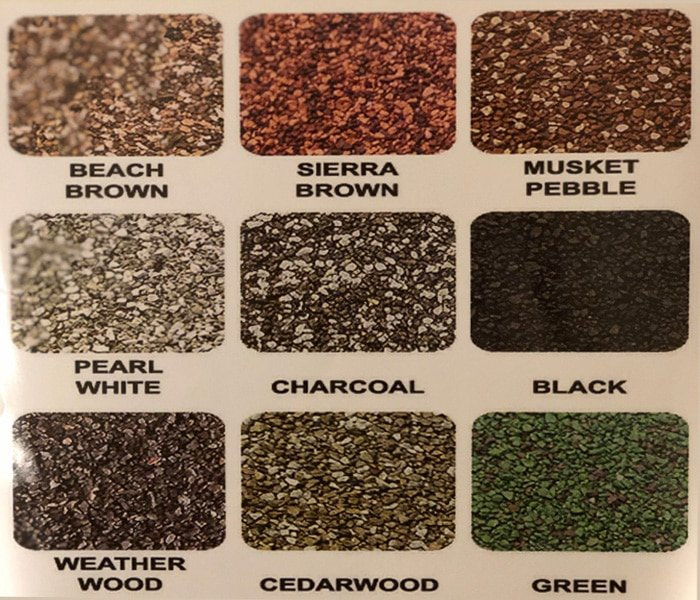 Gutter Cap Stone Coat colors